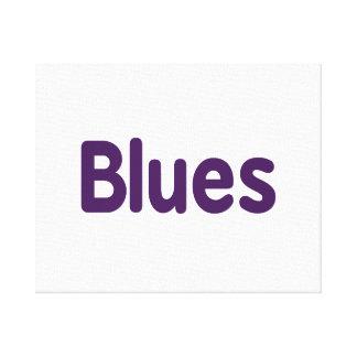 Blues word purple music design.png canvas print