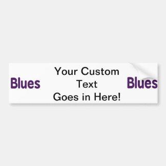 Blues word purple music design.png car bumper sticker