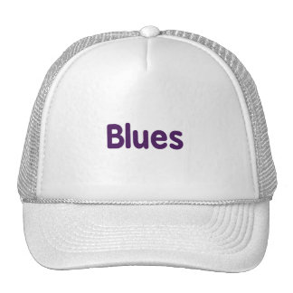 Blues word purple music design png mesh hat