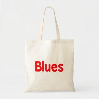 Blues word red music design.png budget tote bag