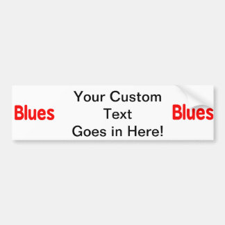 Blues word red music design.png car bumper sticker