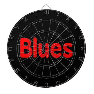 Blues word red music design.png dart board