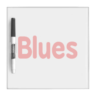 Blues word red music design.png Dry-Erase board