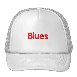 Blues word red music design png hats