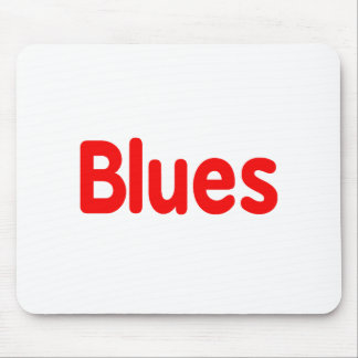 Blues word red music design.png mouse pads
