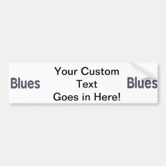 Blues word rock blue pattern music copy.png car bumper sticker