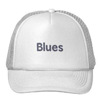 Blues word rock blue pattern music copy png trucker hat