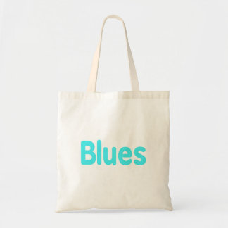 Blues word teal music design.png budget tote bag
