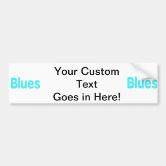 Blues word teal music design.png car bumper sticker