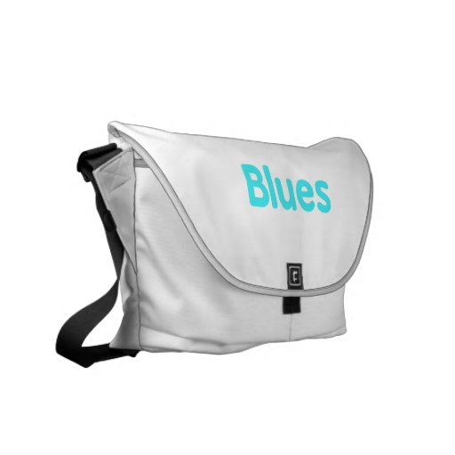 Blues word teal music design.png courier bag
