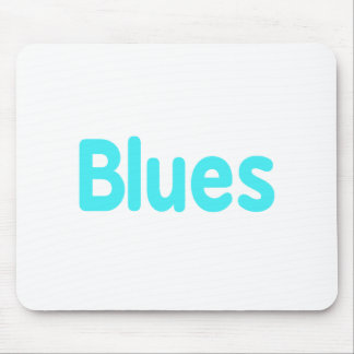 Blues word teal music design.png mousepad
