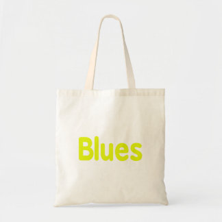 Blues word yellow music design.png budget tote bag