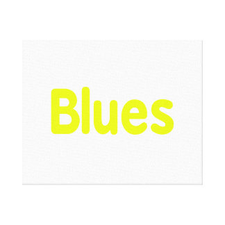 Blues word yellow music design.png canvas print