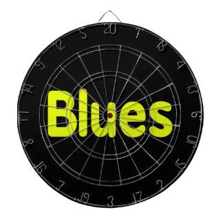 Blues word yellow music design.png dart board