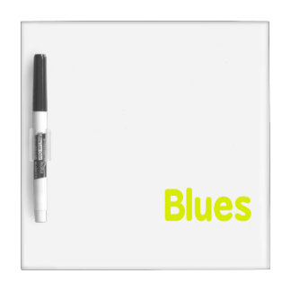 Blues word yellow music design.png Dry-Erase whiteboard