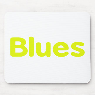 Blues word yellow music design.png mousepads
