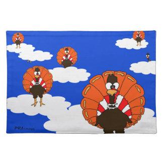 BlueSky Turkeys Cloth Placemat