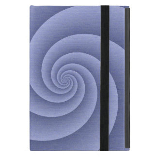 BlueSlate  Spiral in brushed metal texture iPad Mini Case
