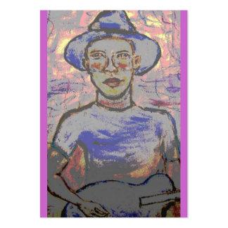 Bluesman conmovedor tarjetas de visita grandes