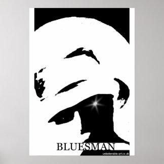 Bluesman, Musicman, música Póster