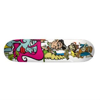Bluesman, Sign, banjoman, Toothpicker, snail, M... Skateboard