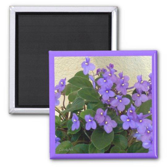 Bluest Blue Violets Magnet