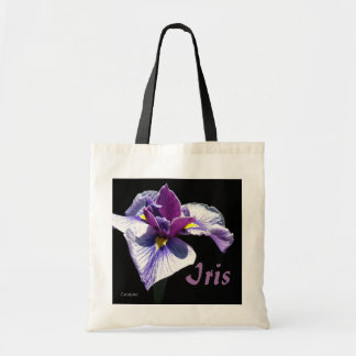 Bluest Purple Iris Tote Bag