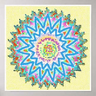 BlueStar Chakra curativo calmante chispeante Impresiones