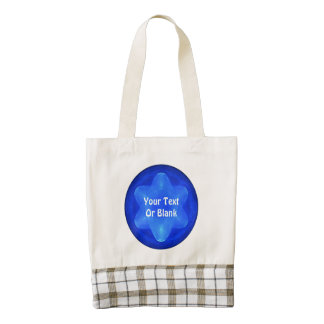 Bluestar Fractal Zazzle HEART Tote Bag