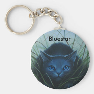 Bluestar Key ring Basic Round Button Keychain