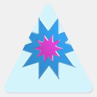 BLUESTAR Magic Relationship Goodluck LOWPRICE Triangle Stickers