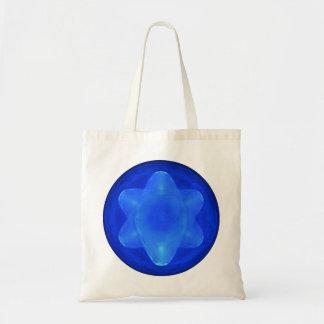 Bluestar on White Tote Bag