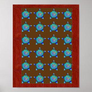 BlueSTAR pattern : Navin Joshi, LOWPRICE gifts Poster