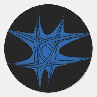 bluestar round sticker