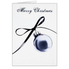Bluesteel Christmas Ornament with Ribbon Card at Zazzle