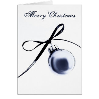 Bluesteel Christmas Ornament with Ribbon Card