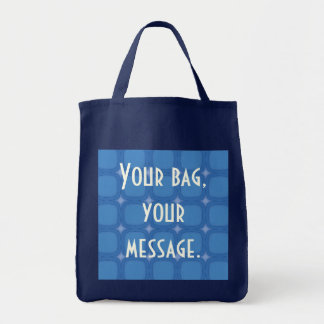 Bluesville Retro Rounded Squares Tote Bag