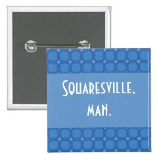Bluesville Retro Squares Stars Pin