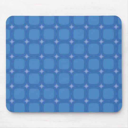 Bluesville Retro Squares Stars Mouse Pad