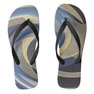 Bluetan Swirl Flip Flops