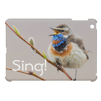Bluethroat Singing iPad Mini Cover