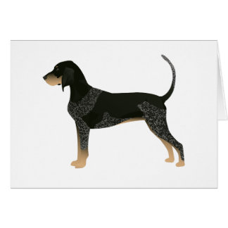 Bluetick Coonhound Basic Breed Customizable Design Card