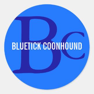 Bluetick Coonhound Breed Monogram Classic Round Sticker