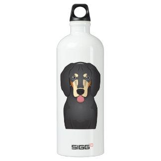 Bluetick Coonhound Cartoon Aluminum Water Bottle