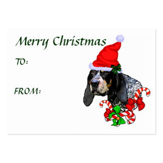 Bluetick Coonhound Christmas Gift Name Tag Large Business Card