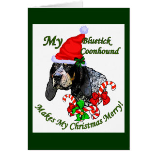 Bluetick Coonhound Christmas Gifts Card