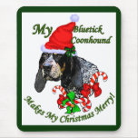 Bluetick Coonhound Christmas Gifts Mousepad
