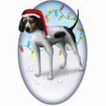 "Bluetick Coonhound Christmas Ornament<br><div class=""desc"">This Christmas ornament from Cartoon Dogs features a bluetick coonhound wearing a Santa hat. Perfect for any coonhound owner&#39;s Christmas tree this holiday season.</div>"