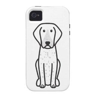Bluetick Coonhound Dog Cartoon Case-Mate iPhone 4 Covers