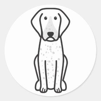 Bluetick Coonhound Dog Cartoon Classic Round Sticker